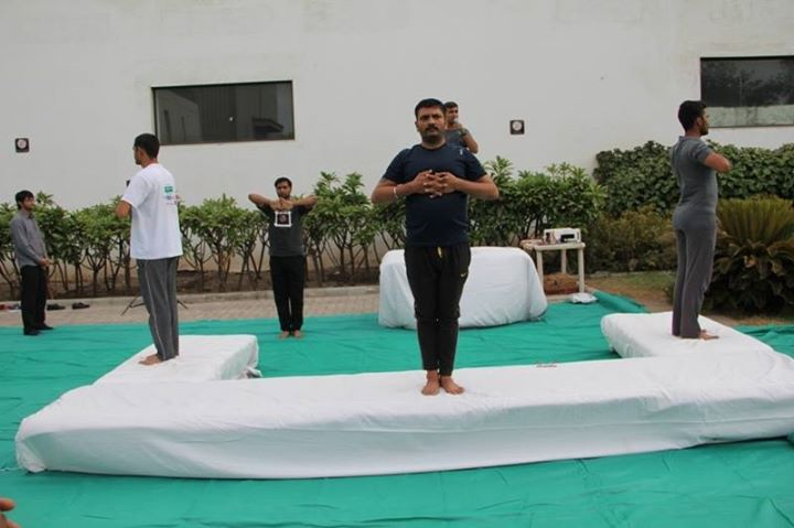Celebrations of #YogaDay at  Rajoo Engineers Limited,India's campus!  #YogaDay2k18 #YogaDay2018 #InternationalYogaDay