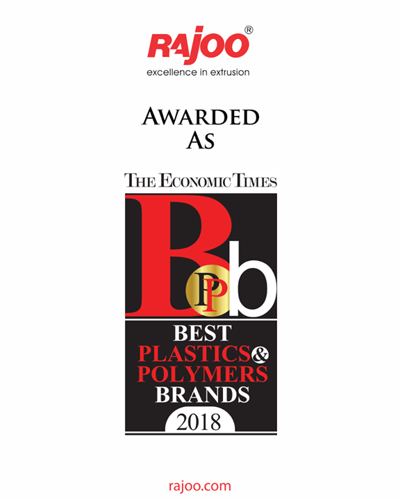 Proud moment for Rajoo Engineers Limited,India to be awarded as Best Plastics & Polymers Brands 2018.  #RajooEngineers #Rajkot #PlasticMachinery #Machines #PlasticIndustry