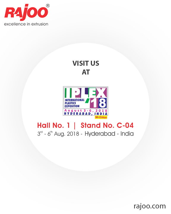 Visit us!  #IPLEX18 #InternationalPlasticsExposition #RajooEngineers #Rajkot #PlasticMachinery #Machines