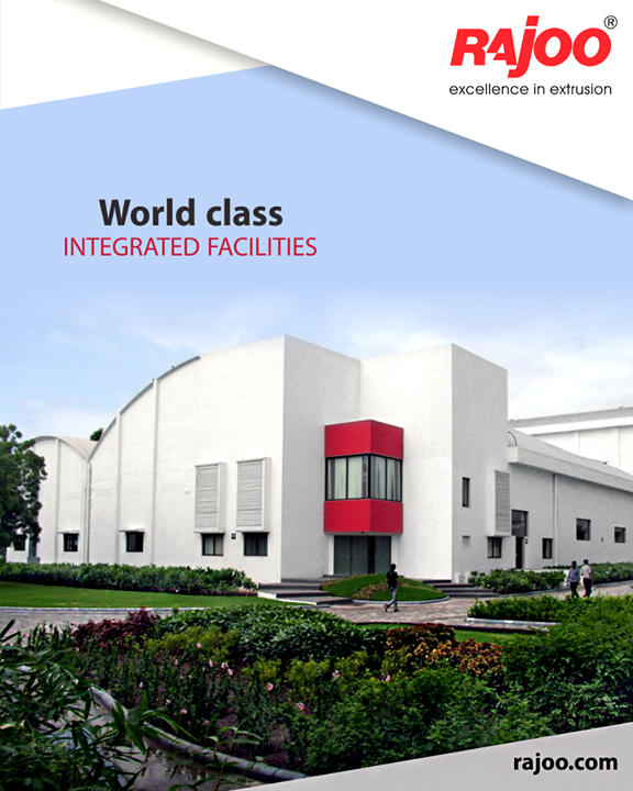 Rajoo Engineers Limited,India's state-of-the-art design and manufacturing facilities in sprawling green acres and built-up area of 20,000 sq. mts. are located on the outskirts of Rajkot, Gujarat, one of the most industrious and vibrant states of India, famous for its engineering skills. World-class integrated facilities comprise design office, tool-room, die shop, metal treatment shop, fabrication shop, paint shop, assembly shop and testing shop.   #RajooEngineers #Rajkot #Plastics #PlasticMachinery #Machines #PlasticIndustry