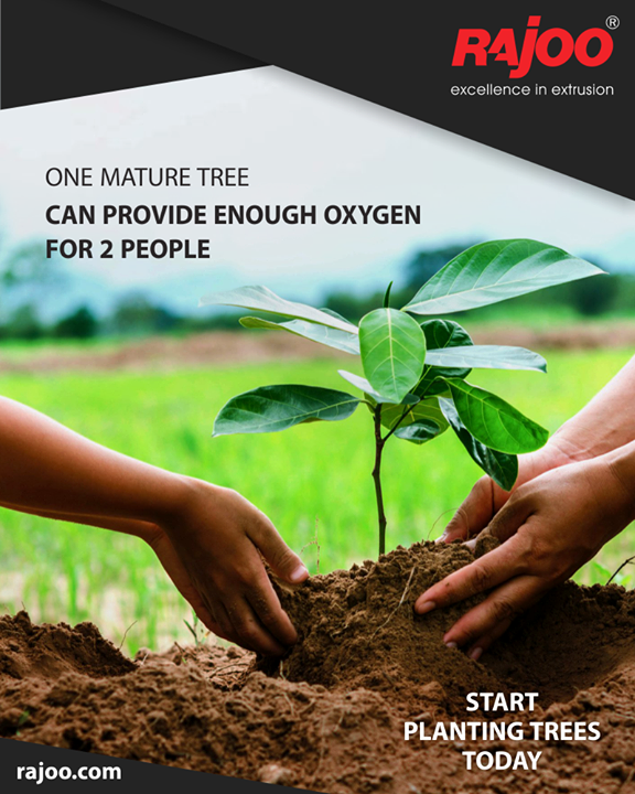 Go green and plant a tree!  #GoGreen #PlantATree  #RajooEngineers #Rajkot #Plastics #PlasticMachinery #Machines #PlasticIndustry