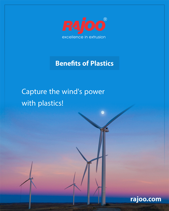 Wind power is free but did you know that capturing the power of the wind would be impossible without plastics? Special plastics are used in the wind turbine covers and huge blades to tap into this environmentally friendly energy source!  #Plastic #RajooEngineers #Rajkot #PlasticMachinery #Machines #PlasticIndustry