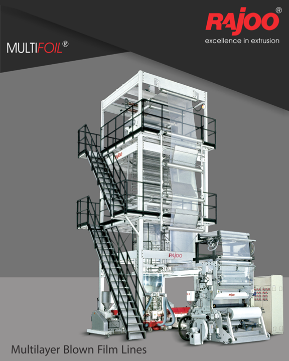 #MultiFoil co-ex blown film lines are backed by proven engineering experience of Rajoo Engineers Limited,India for over two decades and are available in the widest range from two layer configuration for general purpose packaging film to nine layer line for barrier and technical grade films with output ranging from 120kg/hr to 1200 kg/hr and lay-flat width ranging from 600mm to 5000mm.  #Plastic #RajooEngineers #Rajkot #PlasticMachinery #Machines #PlasticIndustry