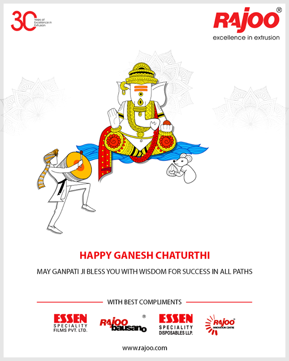 May Ganpati Ji bless you with wisdom for success in all paths  #GaneshChaturthi #GanpatiBappaMorya #Ganeshotsav #HappyGaneshChaturthi #GaneshChaturthi2018  #RajooEngineers #Rajkot #PlasticMachinery #Machines #PlasticIndustry