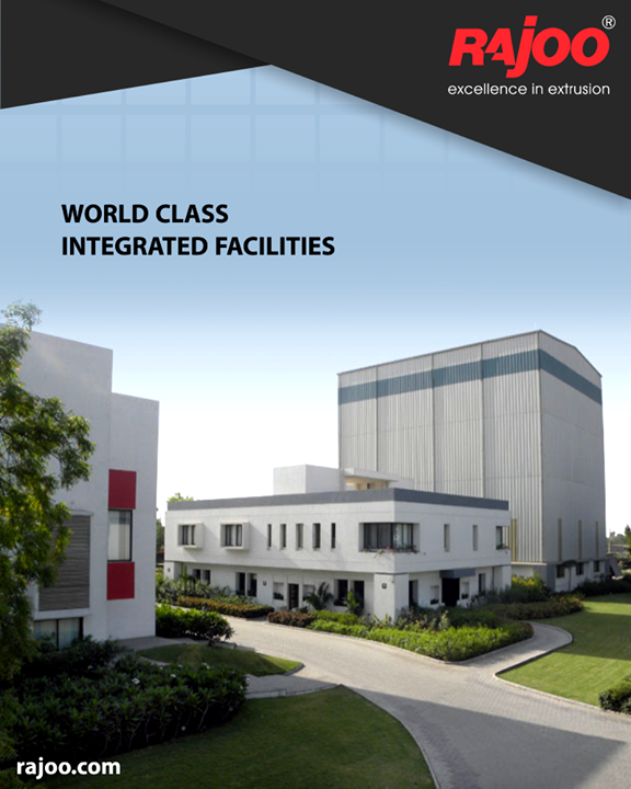 Rajoo's state-of-the-art design and manufacturing facilities in sprawling green acres and built-up area of 20,000 sq. mts. are located on the outskirts of Rajkot, Gujarat, one of the most industrious and vibrant states of India, famous for its engineering skills. World-class integrated facilities comprise a design office, tool-room, die shop, metal treatment shop, fabrication shop, paint shop, assembly shop and testing shop.  #RajooEngineers #Rajkot #PlasticMachinery #Machines #PlasticIndustry