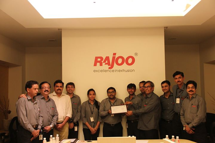A happy team at Rajoo Engineers Limited,India after completing training on #leadership Development programme wherein Mr. Vinod Bhadra and Premal Pandya were certified for excellent participation.  #TeamBuilding #RajooEngineers #Rajkot #PlasticMachinery #Machines