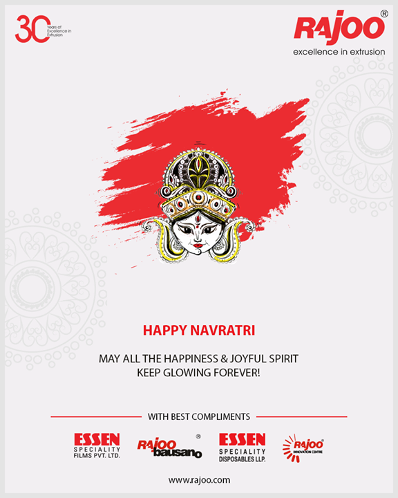 May all the happiness & joyful spirit keep glowing forever!  #HappyNavratri #Navratri #Navratri2018 #IndianFestivals #Dandiya #Garba #RajooEngineers #Rajkot #PlasticMachinery