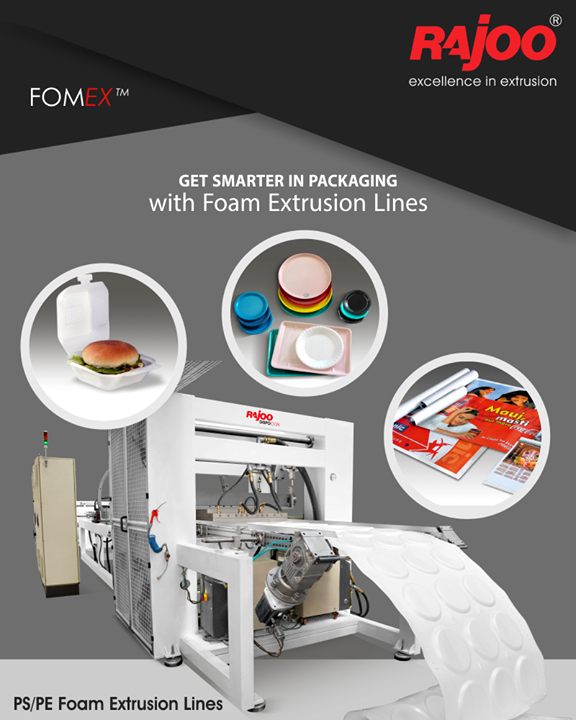 Let it be food packaging or medical packaging, our power-packed Foam Extrusion Lines will seal your deals!   #FoamExtrusionLines #FoodPackaging #MedicalPackaging #Packaging #OverallPackaging #RajooEngineers #Rajkot #PlasticMachinery #Machines #PlasticIndustry