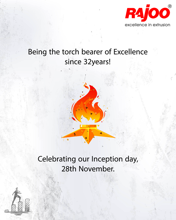 Being the torch bearer of Excellence since 32years!  #InceptionDay #RajooEngineers #Rajkot #Excellence