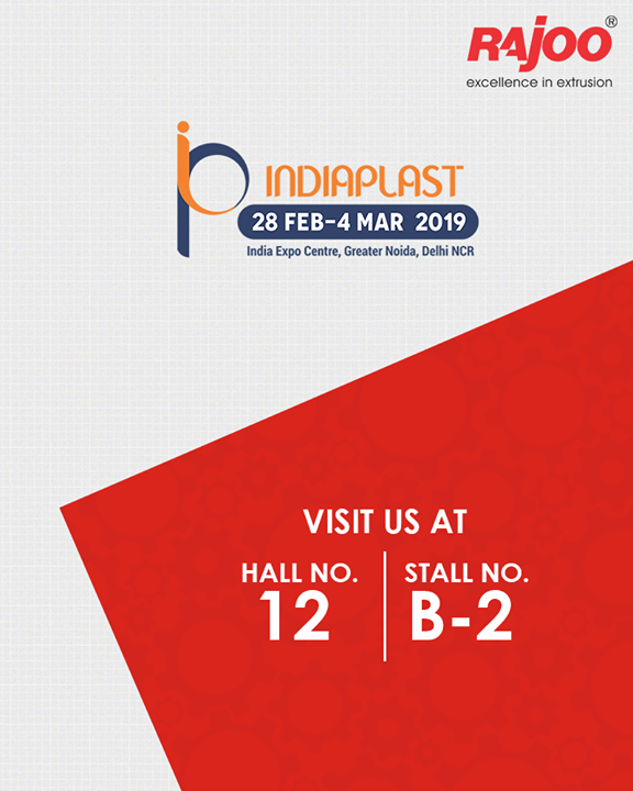 Visit us at #IndiaPlast!  #UpcomingEvent #RajooEngineers #Rajkot #PlasticMachinery #Machines #PlasticIndustry