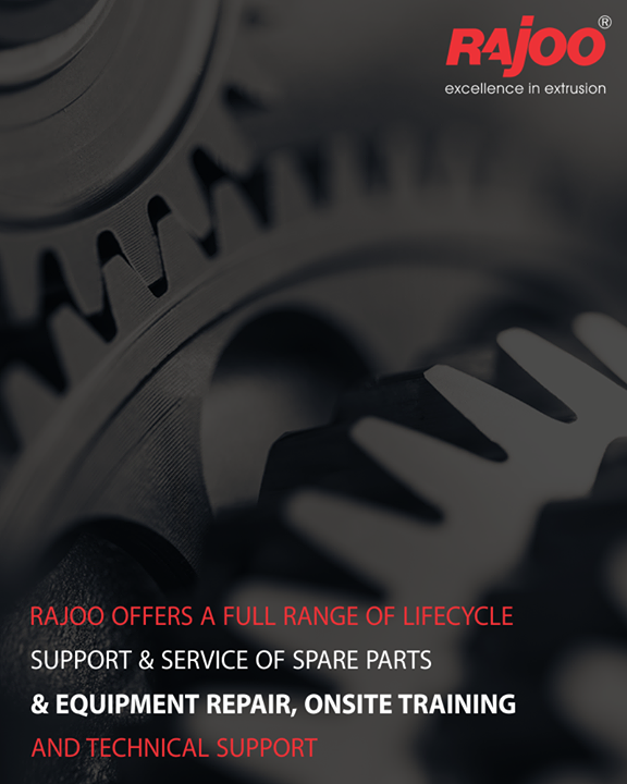 We maintain stock of all essential spares for the products. This helps us to meet our client's requirement that comes with urgency as malfunctioning of any single spare part of a machine can put the entire process on hold. All our clients are also supplied with well detailed product manuals having product & spare parts numbers in a way that is easy to recognize and order.  #RajooEngineers #Rajkot #PlasticMachinery #Machines #PlasticIndustry