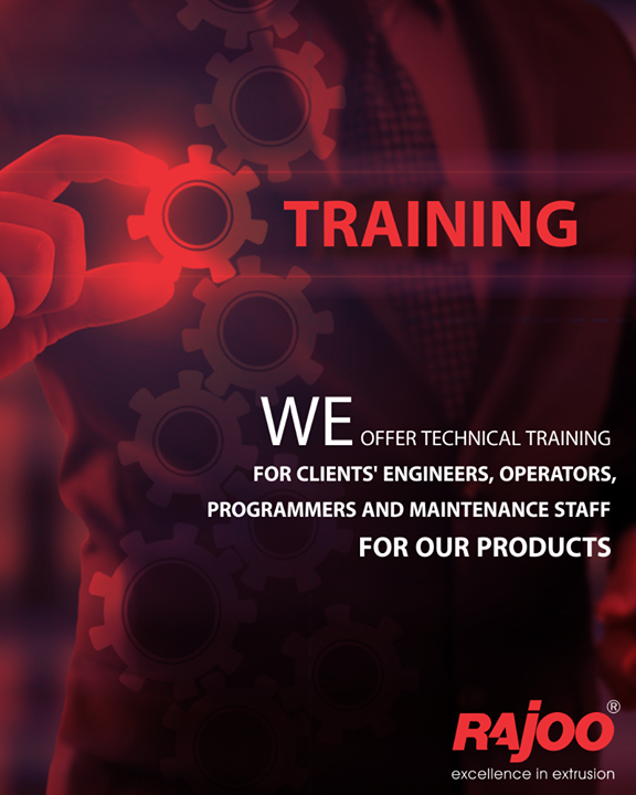 We offer technical training for clients' Engineers, Operators, Programmers and Maintenance Staff for our products and its operating systems, automation process and technology used.  #RajooEngineers #Rajkot #PlasticMachinery #Machines #PlasticIndustry