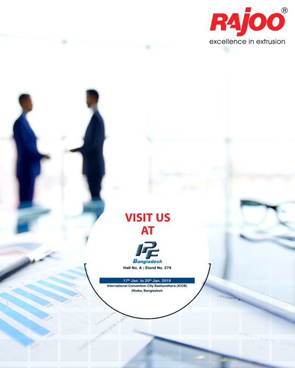 Visit us at #IPFBangladesh2019!  #RajooEngineers #Rajkot #PlasticMachinery #Machines #PlasticIndustry