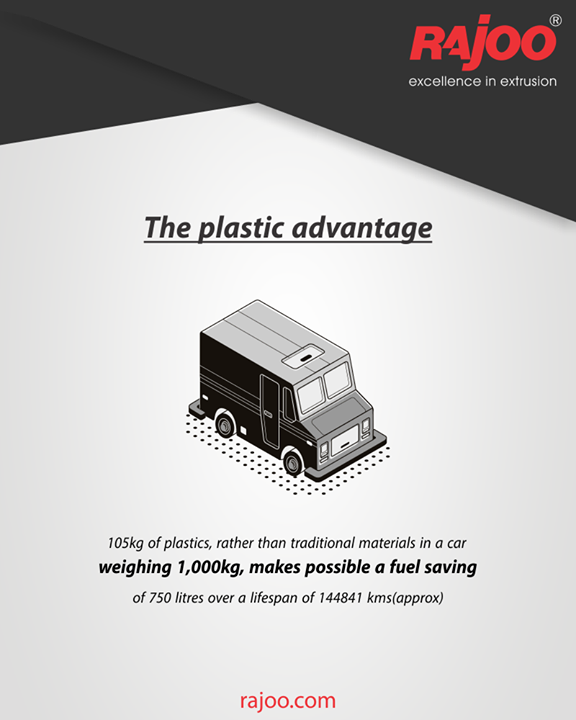 Plastics make it possible to save fuel in automobiles!  #RajooEngineers #Rajkot #PlasticMachinery #Machines #PlasticIndustry