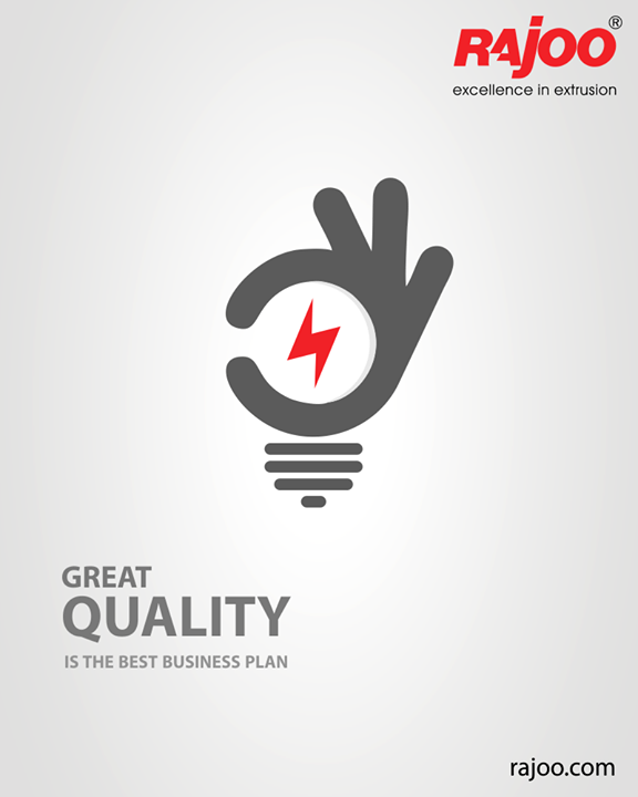 #Quality is indeed the best business plan & we vouch by it!   #RajooEngineers #Rajkot #PlasticMachinery #Machines #PlasticIndustry
