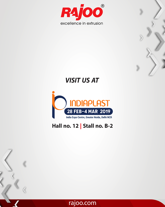 Visit us at the most noteworthy expo of the plastic industry, India plast!   #RajooEngineers #Rajkot #PlasticMachinery #Machines #PlasticIndustry