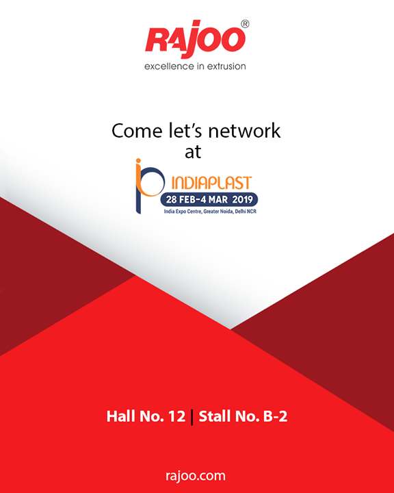 Visit us at Indiaplast!   #IndiaPlast #RajooEngineers #Rajkot #PlasticMachinery #Machines #PlasticIndustry