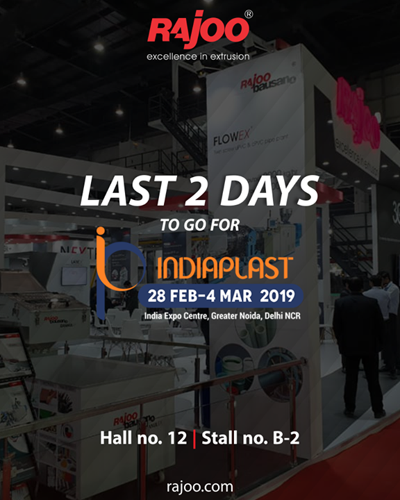Visit us at India plast | India Expo centre, Greater Noida, Delhi NCR   #IndiaPlast #RajooEngineers #Rajkot #PlasticMachinery #Machines #PlasticIndustry