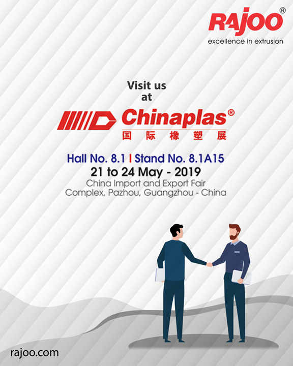 Visit us at Chinaplas!  #VisitUs #Chinaplas #UpcomingEvent #RajooEngineers #Rajkot #PlasticMachinery #Machines #PlasticIndustry