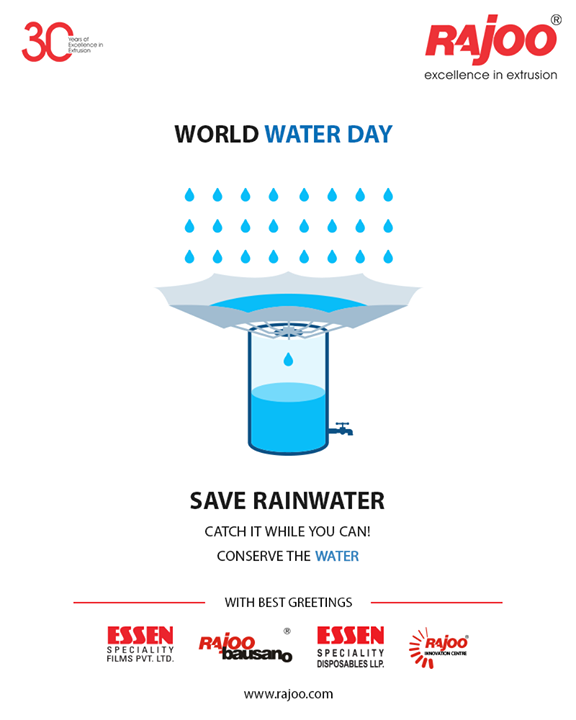 Save Rainwater  Catch it while you can! Conserve the water   #WorldWaterDay #WaterDay #SaveWater #WaterDay2019 #RajooEngineers #Rajkot #PlasticMachinery #Machines #PlasticIndustry