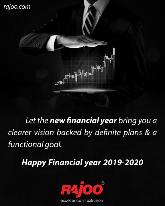 Use this new financial year 2019-20 as a reason to revise the trading terms. A clear vision backed by definite plans will give a tremendous feeling of confidence and personal power.  #NewFinancialYear #FinancialYear #NewBeginnings #RajooEngineers #Gujarat #India