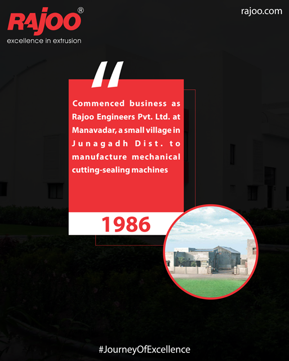 In 1986, commenced business as Rajoo Engineers Limited,India  #RajooEngineers #Rajkot #PlasticMachinery #Machines #PlasticIndustry