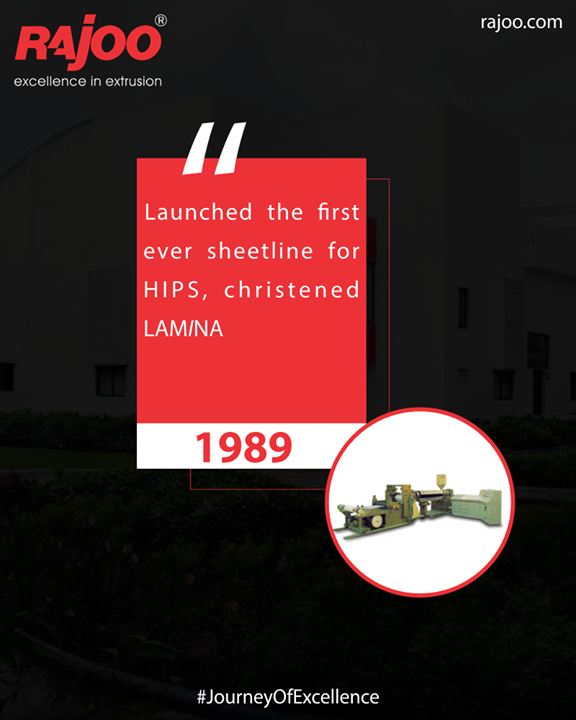 Rajoo Engineers Limited,India launched the first ever sheetline for HIPS, christened LAMINA  #JourneyOfExcellence #RajooEngineers #Rajkot #PlasticMachinery #Machines #PlasticIndustry