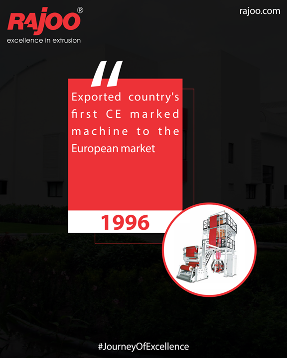 Exported country's first CE marked machine to the European market  #JourneyOfExcellence #RajooEngineers #Rajkot #PlasticMachinery #Machines #PlasticIndustry
