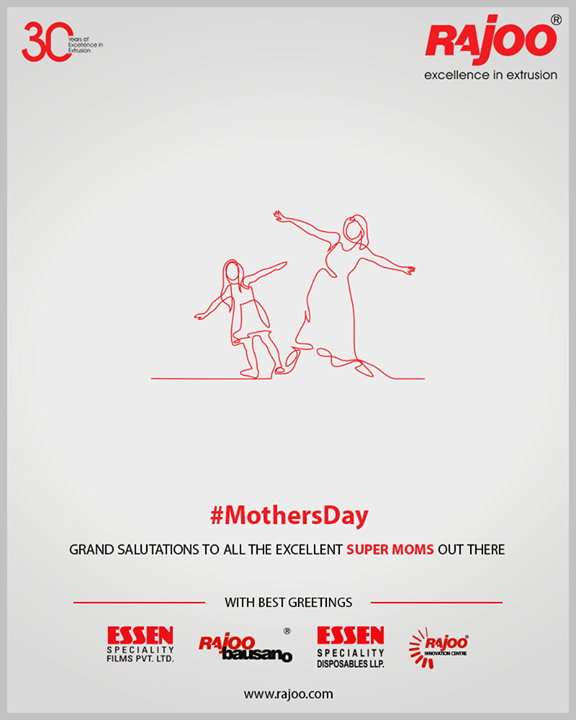 Grand salutations to all the excellent super Moms out there  #MothersDay #MothersDay2019 #MOM2019 #HappyMothersDay #RajooEngineers #Rajkot #PlasticMachinery #Machines #PlasticIndustry
