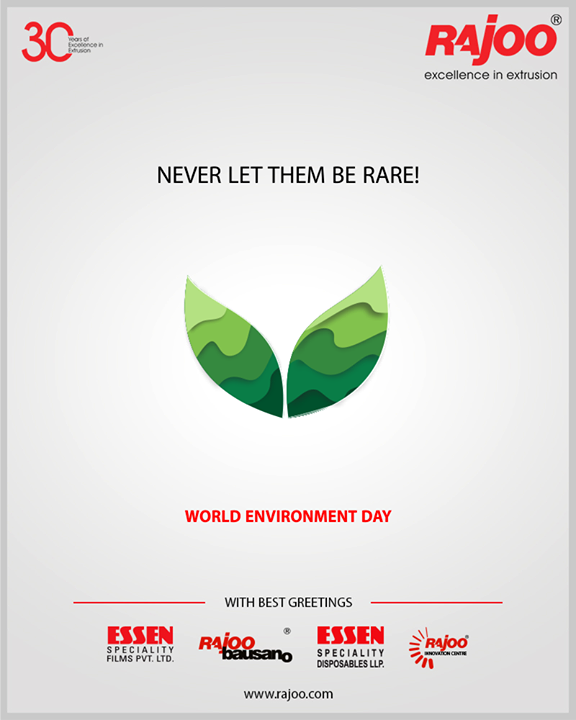 Never let them be rare!  #WorldEnvironmentDay #EnvironmentDay #SaveEnvironment #PledgeGreen #RajooEngineers #Rajkot #PlasticMachinery #Machines #PlasticIndustry