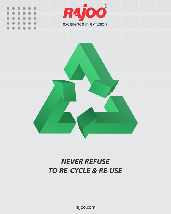 You may not realize, but it is a time-proven matter of fact that re-cycling and re-using can bring about a world of revolutionary changes. Never refuse to re-cycle & re-use!  #GoGreen #Recycle #RajooEngineers #Rajkot #PlasticMachinery #Machines #PlasticIndustry