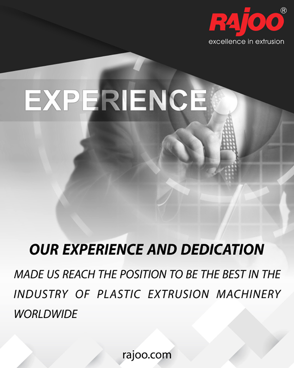 Our experience and dedication made us reach the position to be the best in the industry of plastic extrusion machinery worldwide.  #RajooEngineers #Rajkot #PlasticMachinery #Machines #PlasticIndustry