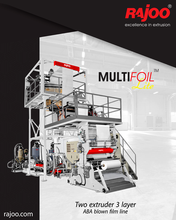 The MULTIFOIL - LITE comes with the trademark quality of Rajoo machines coupled with a minimal cost of ownership, minimal downtime, energy-efficient, flexibility to adapt to varied applications to ensure a sustained competitive advantage for its customers.  #RajooEngineers #Rajkot #PlasticMachinery #Machines #PlasticIndustry