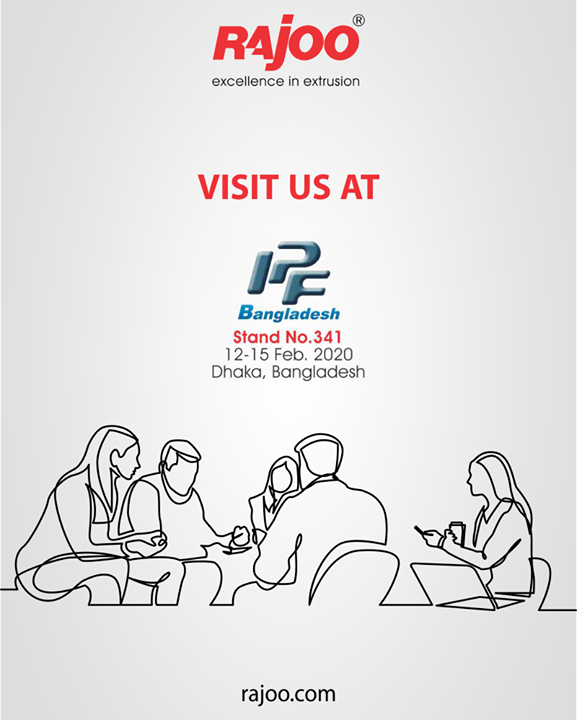 Meet us at IPF Bangladesh!  #RajooEngineers #Rajkot #PlasticMachinery #Machines #PlasticIndustry