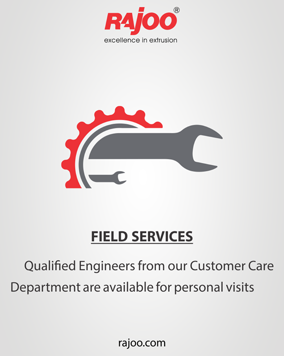 Qualified Engineers from our Customer Care Department are available for personal visits for any technical query which cannot be solved by distance communication and assistance.  #RajooEngineers #Rajkot #PlasticMachinery #Machines #PlasticIndustry