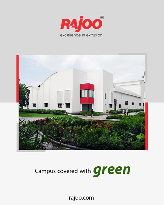 Rajoo Engineers Limited,India, growing amidst nature.  #RajooEngineers #Rajkot #PlasticMachinery #Machines #PlasticIndustry