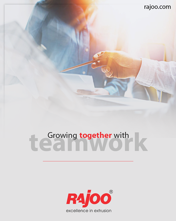 The strength of the team lies in is each individual member. The strength of each member lies in the team.  #TeamWork #RajooEngineers #Rajkot #PlasticMachinery #Machines #PlasticIndustry