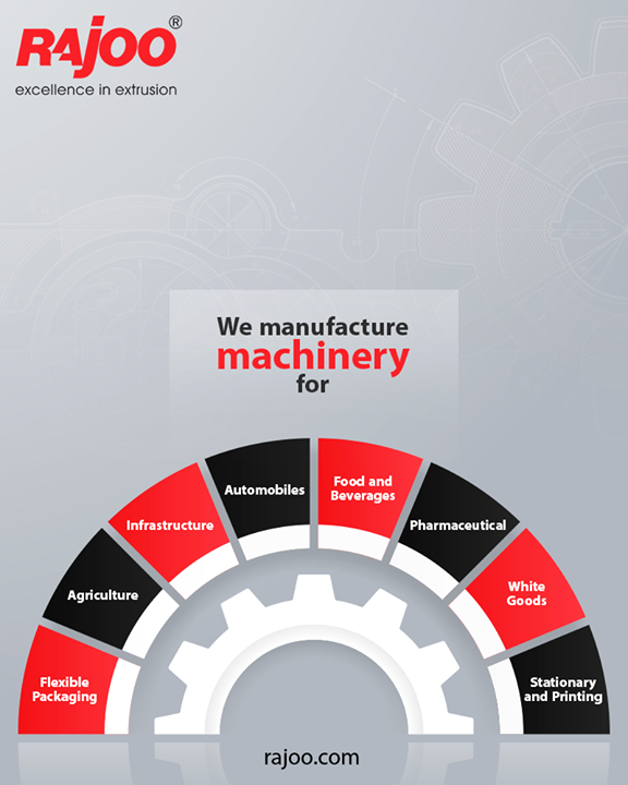 Industries we cater to.  #RajooEngineers #Rajkot #PlasticMachinery #Machines #PlasticIndustry