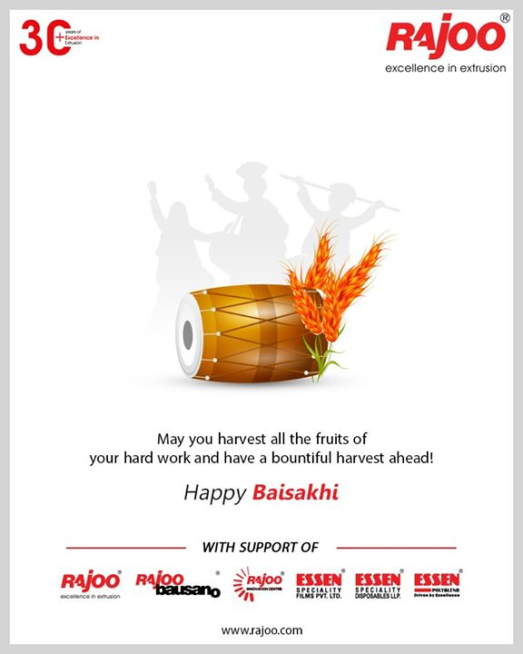May you harvest all the fruits of your hard work and have a bountiful harvest ahead!  #HappyBaisakhi #Baishakhi #Baishakhi2020 #RajooEngineers #Rajkot #PlasticMachinery #Machines #PlasticIndustry