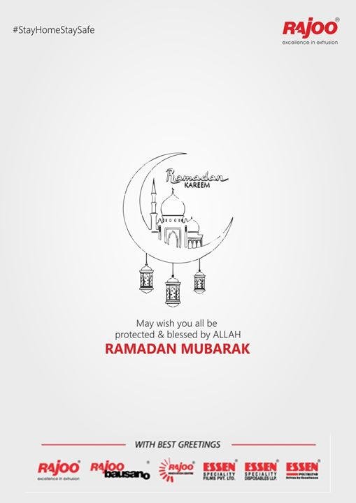 May wish you all be protected & blessed by ALLAH Ramadan Mubarak  #RamadanMubarak #RajooEngineers #Rajkot #PlasticMachinery #Machines #PlasticIndustry