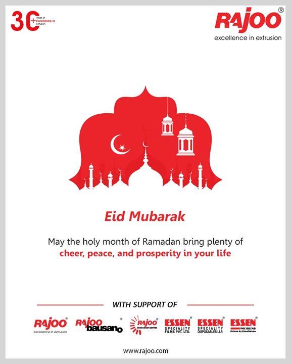 May the holy month of Ramadan bring plenty of cheer, peace, and prosperity in your life.  #EidMubarak #EidMubarak2020 #RajooEngineers #Rajkot #PlasticMachinery #Machines #PlasticIndustry