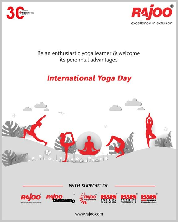 Be an enthusiastic yoga learner & welcome its perennial advantages  #InternationalDayofYoga #InternationalYogaDay #YogaDay #YogaDay2020 #Yoga #RajooEngineers #Rajkot #PlasticMachinery #Machines #PlasticIndustry