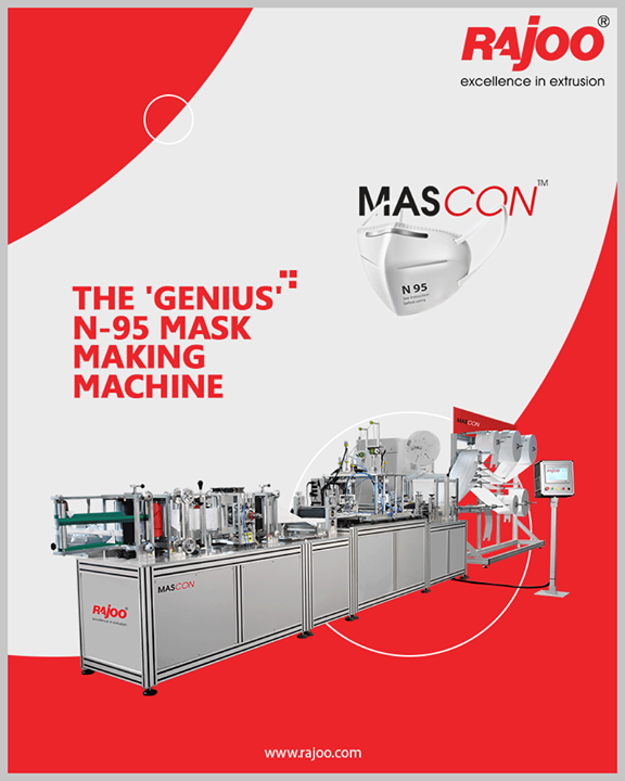#MASCON - The 'Genius' N-95 Mask Making Machine!  #RajooEngineers #Rajkot #PlasticMachinery #Machines #PlasticIndustry