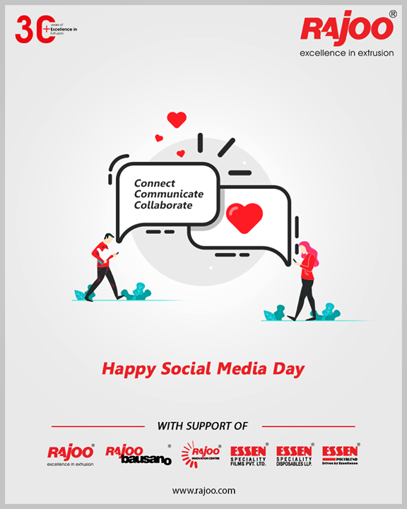 Connect, communicate, collaborate.  #SocialMediaDay #SocialMediaDay2020 #WorldSocialMediaDay  #SocialMedia #RajooEngineers #Rajkot #PlasticMachinery #Machines #PlasticIndustry