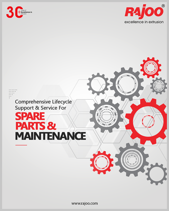 Rajoo Engineers Limited offers a full range of lifecycle support & service of spare parts & maintenance. We maintain stock of all essential spares for the products which help us to meet the client's requirement that comes with urgency.  #RajooEngineers #Rajkot #PlasticMachinery #Machines #PlasticIndustry
