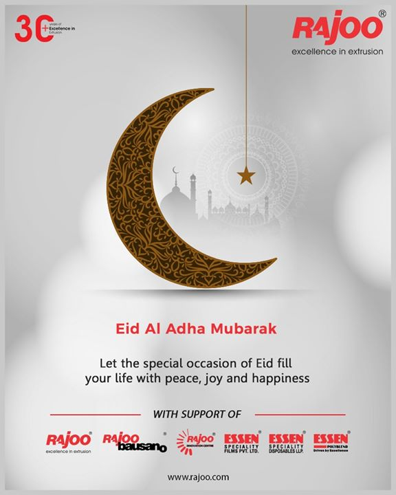 Let the special occasion of Eid fill your life with peace, joy and happiness.  #EidMubarak #EidAlAdha #EidAdhaMubarak #EidAlAdha2020 #BlessedEid #HappyEid #RajooEngineers #Rajkot #PlasticMachinery #Machines #PlasticIndustry #PlasticSheet #PlasticFilm
