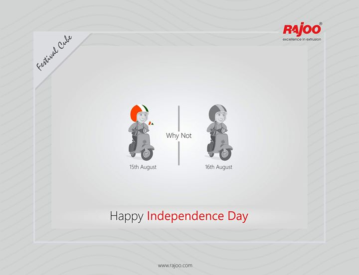 Happy Independence Day!!  #IndependenceDay #JaiHind #IndependencedayIndia #HappyIndependenceDay #IndependenceDay2020 #ProudtobeIndian #RajooEngineers #Rajkot #PlasticMachinery #Machines #PlasticIndustry