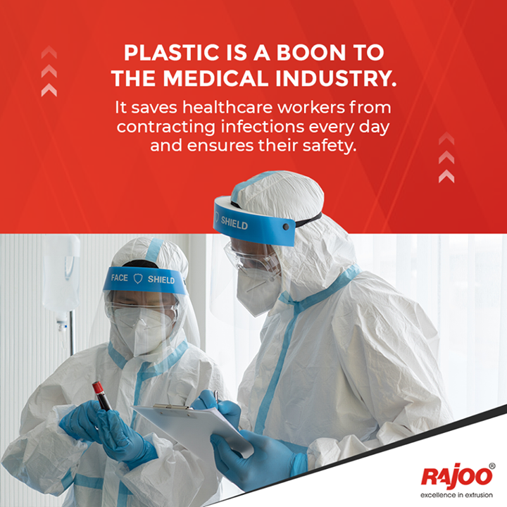 Plastic is a boon to the medical industry. It saves healthcare workers from contracting infections every day and ensures their safety. At this point, it is difficult to imagine the medical field existing without plastic.  #RajooEngineers #Rajkot #PlasticMachinery #Machines #PlasticIndustry #entrepreneurstips