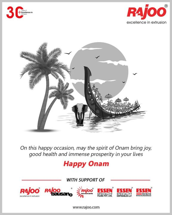 On this happy occasion, may the spirit of Onam bring joy, good health and immense prosperity in your lives  #HappyOnam #Onam #Onam2020 #RajooEngineers #Rajkot #PlasticMachinery #Machines #PlasticIndustry