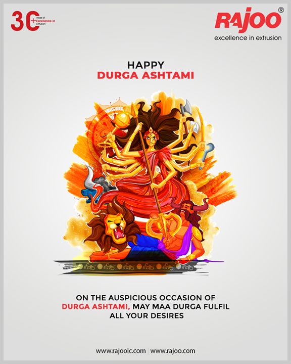 On the auspicious occasion of Durga Ashtami, May Maa Durga fulfil all your desires  #DurgaAshtami #Navratri #RajooEngineers #Rajkot #PlasticMachinery #Machines #PlasticIndustry